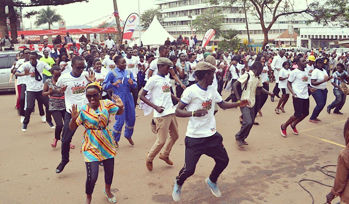 Flash mob performed in Kampala