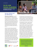 Faith and Family Planning - 2020